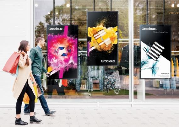 Écran vitrine Samsung OMR