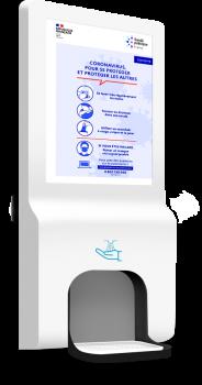 Borne digitale sanitaire