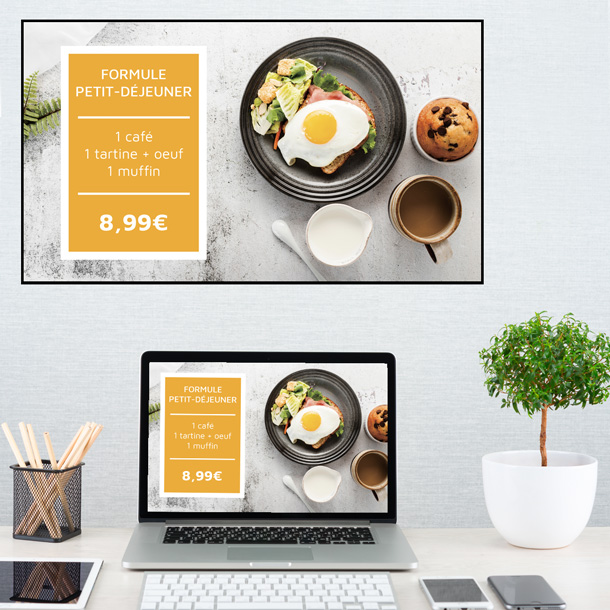 Création de contenus graphiques pour Café, Hôtel & Restaurants